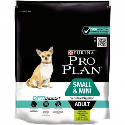 Pro Plan small & mini adult  (ягненок, рис) 3кг